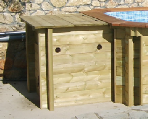 plastica wooden pools filtration enclosure