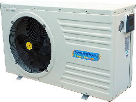 SwimPool heat pump for regent wooden pool