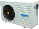 wooden pool heat pump option